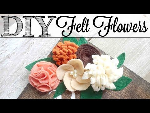 DIY Felt Flowers | 5 Flowers and Leaves