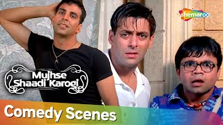लो आ गया सनी या शनि |  Best Comedy Scenes | Movie Mujhse Shaadi Karogi | Akshay Kumar - Rajpal Yadav