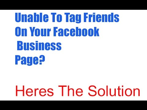 How to tag friends on your facebook business page