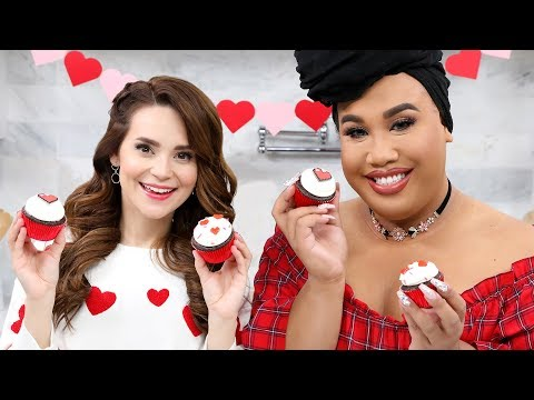 VALENTINES DAY CUPCAKES ft Patrick Starrr! - NERDY NUMMIES