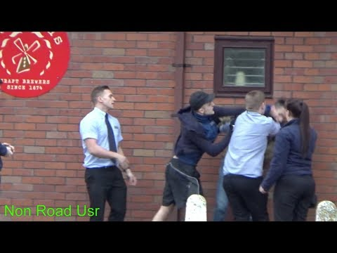 Aldi Staff + Some Guys in an altercation.....