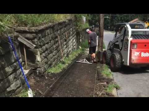 How to excavate a Pittsburgh Concrete Sidewalk, Damico's Landscaping