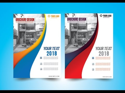how to make-Brochure Design in CorelDraw x7 #6 by as graphics