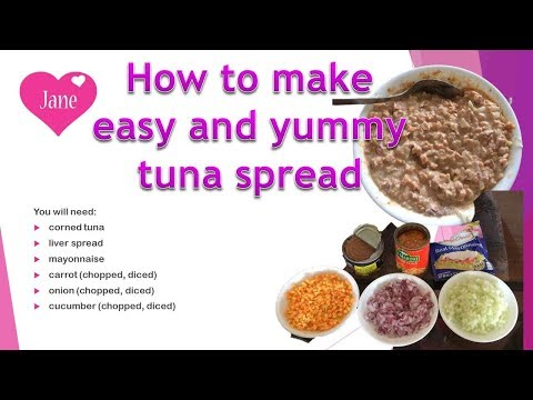 how to make easy and yummy tuna spread💕