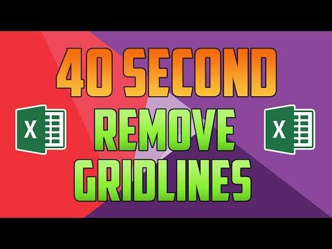 Excel 2016 : How to Remove Gridlines from a Section