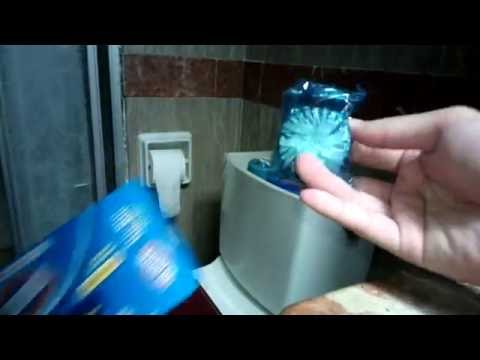 Clorox Tru Blu Automatic Toilet Bowl Cleaner: Putting into the Toilet Bowl