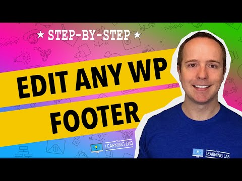 How To Edit The WordPress Footer | WP Learning Lab