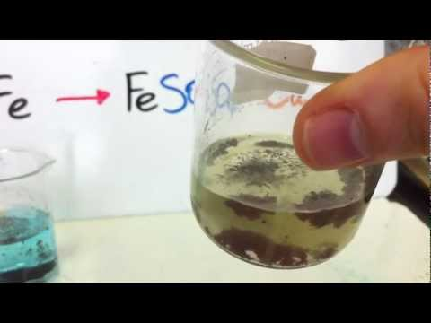 Fe + CuSO4 --gives-- FeSO4 + Cu (Single Replacement)
