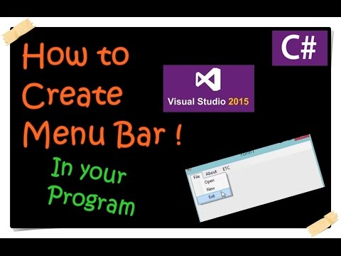 C# _ How to Create Menu Bar _ Visual Studio 2015