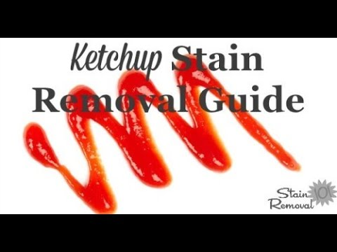 How To Remove Ketchup From Carpet