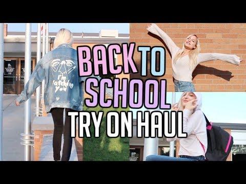 BACK TO SCHOOL TRY ON CLOTHING HAUL 2017   HONEYBUM