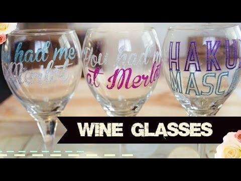 DIY Disney Wine Glasses With Your Cricut Explore Air