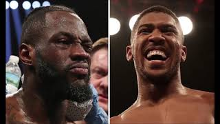 ANTHONY JOSHUA vs DEONTAY WILDER SIGNED ON FRIDAY CONFIRMS SHIRLEY WINKLE!!