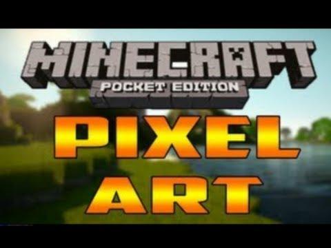 Minecraft PE Pixel Art Ep. 1: Nyan Cat, Mario, And Pac-Man