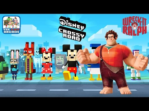 Disney Crossy Road - Wreck It Ralph Has Invaded Disney Crossy Road (iOS/iPad Gameplay)
