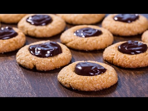 Peanut Butter Chocolate Thumbprint Cookies Recipe