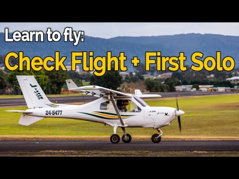 RECREATIONAL PILOT CERTIFICATE: Flying Lesson #8 - Solo check flight + First solo! | Audio