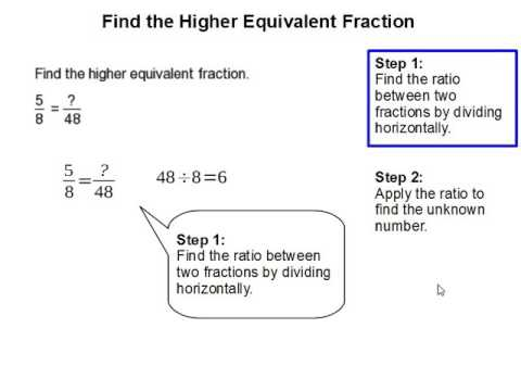 How to Find the Higher Equivalent Fraction