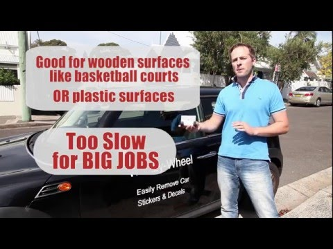 How to remove those 1990's stickers from your bumper without damaging the plastic bumper guard
