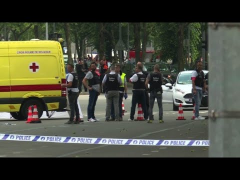 Images from scene after attack in Liege