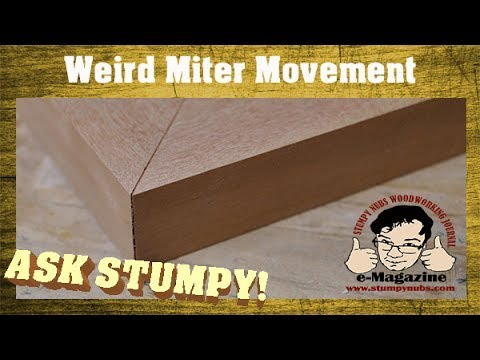 The Amazing Moving Miters!!! (How an angle can change after it's cut.)