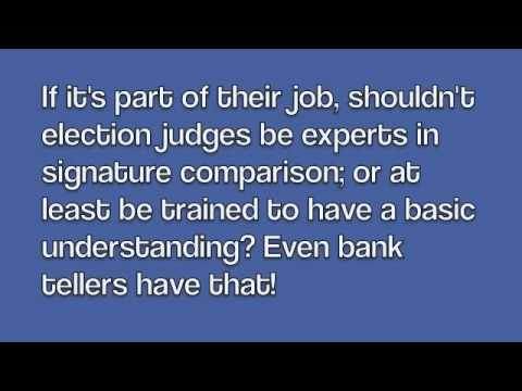 Really? Don't Empower Election Judges With Training?