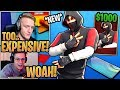 Streamers React To The New EXCLUSIVE 1000 Ikonic Skin Galaxy S10 Outfit Fortnite Moments