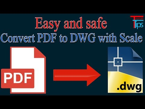 Convert PDF to AutoCAD - Free PDF to DWG converter With Scale