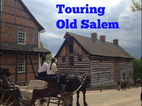 Touring the streets of Old Salem, Winston-Salem, NC |