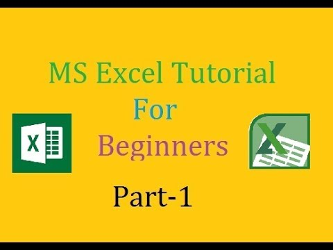 Microsoft Excel Tutorial for Beginners: How to start microsoft excel :(Tutorial #1)