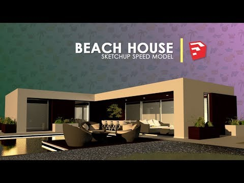 Beach House | Sketchup Speed Build
