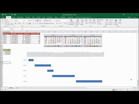 Create Gantt Chart to Show Workdays Only