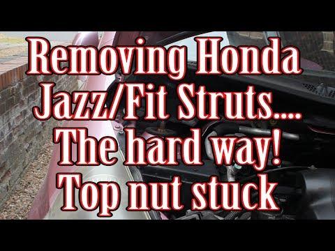 Removing a stuck Honda Jazz/Fit strut nut - nightmare!
