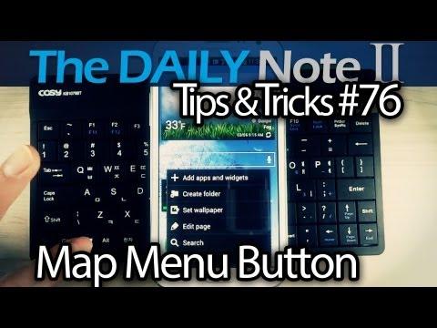 Samsung Galaxy Note 2 Tips & Tricks Ep. 76: Map Menu Button to Standard USB/BT Keyboard, Remap Keys
