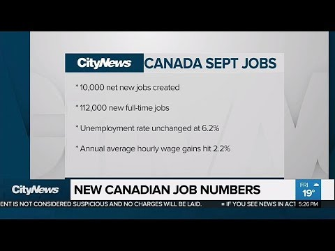 Canadian job numbers up for the 10th straight month