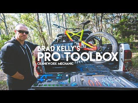 Brad Kelly Pro Crankworx Mechanic Portable Bicycle Toolbox