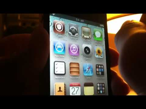 iOS 5 top notification widgets on iPhone 4