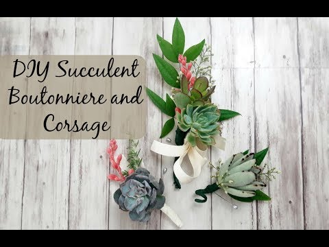 DIY Succulent Boutonniere and Corsage | Succulents for Weddings