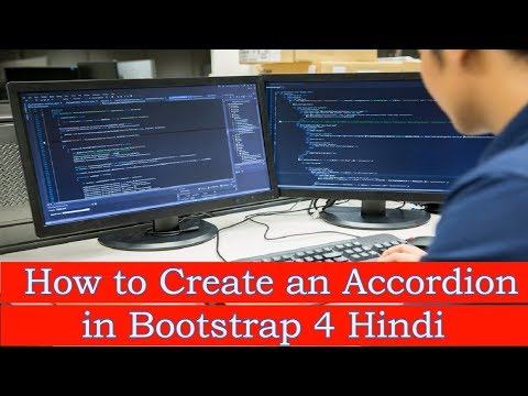 How to Create an Accordion in Bootstrap 4 Hindi