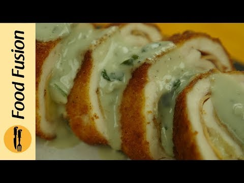 Chicken Cordon Bleu  with Sauce Recipe By Food Fusion