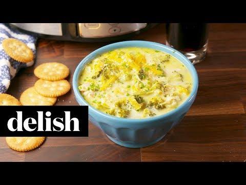 Crock-Pot Cheesy Broccoli Soup | Delish