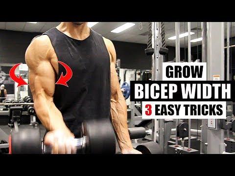 BICEP WIDTH- This is how I get 3 dimensional biceps [3 Bonus Exercises]