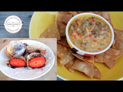 Super Bowl | Italian Sausage and Cheese Dip | Fried Strawberries