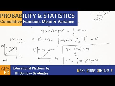 Cumulative Distribution of Continuous Random Variable | Probability and Statistics