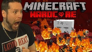 so I visited the NETHER on Minecraft Hardcore..