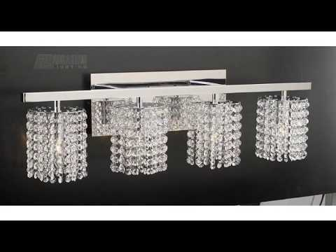 Bathroom Vanity Lights with Crystals