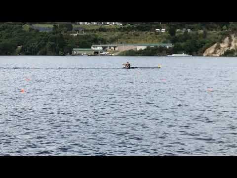 Men's single sculls 2018 North Island Final race (New Zealand)- commentated by Eric Murray