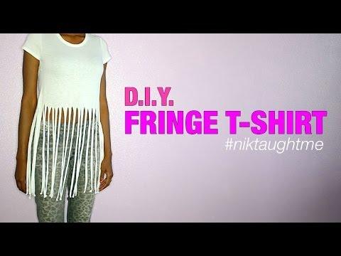 How to make a fringe t-shirt   Nik Scott
