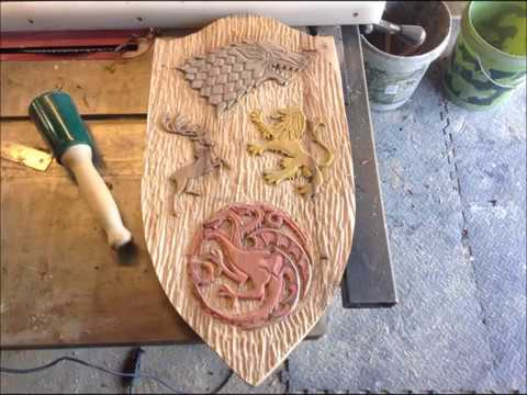 Woodworking : Game Of Thrones Wood Carving