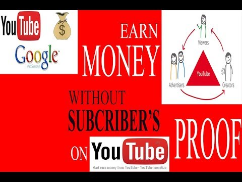 just earn money WITHOUT subcribers on youtube